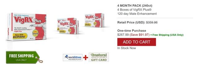4-х месяцев-VigRX плюс пакет