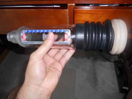 Aquí está el Hércules final con una manga de bombeo sobre la polaina originales.  No es una mala mirada, y una mejor bomba.