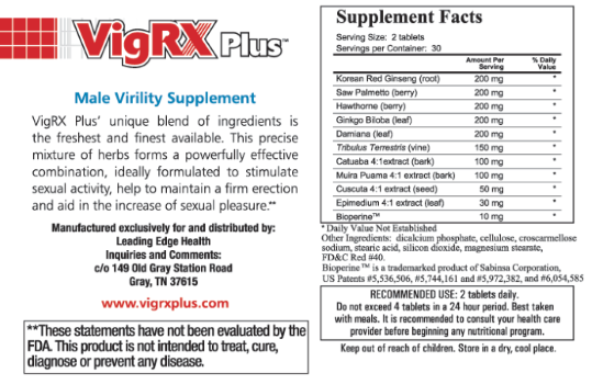 vigrx plus ingredients - Buying VigRX Plus Male Enhancement Pills in Tunisia