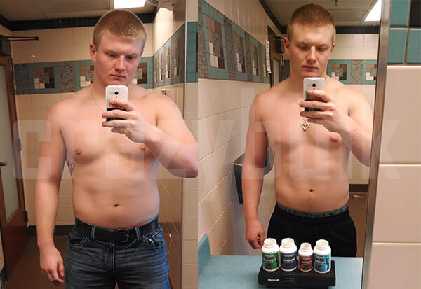 Riley Before After Cutting Stack 4 weeks